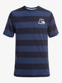 Stripe Sea - Short Sleeve UPF 50 Surf T-Shirt for Boys 8-16  EQBWR03090