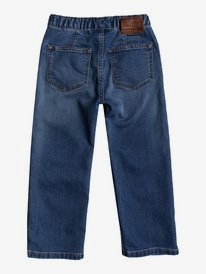 Elastic Aqua Cult Aged - Regular Fit Jeans for Boys 2-7  EQKDP03076
