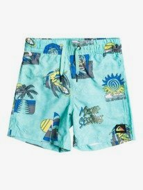 "Island Pulse 12"" - Swim Shorts for Boys 2-7  EQKJV03164"