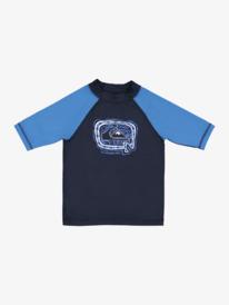 Bubble Trouble - Short Sleeve UPF 50 Rash Vest for Boys 2-7  EQKWR03101