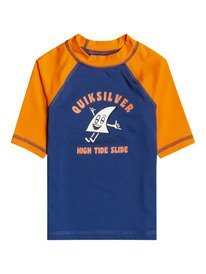 Bubble Trouble - Short Sleeve UPF 50 Rash Vest for Boys 2-7  EQKWR03101