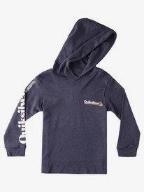 Check Yo Self - Long Sleeve Hooded T-Shirt for Boys 2-7  EQKZT03417