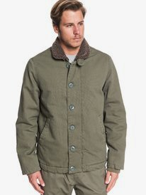 Waterman Stormy Weather - Sherpa-Lined Jacket for Men  EQMJK03031