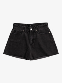 Quiksilver Womens The Denim - Organic High Waist Denim Shorts for Women  EQWDS03008