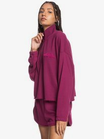 Flying Over - Organic Half-Zip Sweatshirt for Women  EQWFT03036