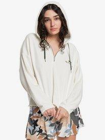 Quiksilver Womens Color Mind - Organic Half Zip Hoodie for Women  EQWFT03054