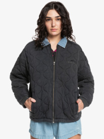 Quiksilver Womens Deeper Ocean - Organic Mid-Length Jacket for Women  EQWFT03055