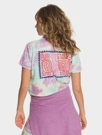 Quiksilver Womens - Tie-Dye Cropped Camp Shirt for Women  EQWKT03051