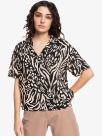 Quiksilver Womens Sunny Ride - Short Sleeve Camp Shirt for Women  EQWWT03067