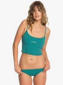 Quiksilver Womens - Cropped Vest Bikini Top for Women  EQWX303008