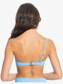 Classic Rib - Recycled One Shoulder Bikini Top for Women  EQWX303054