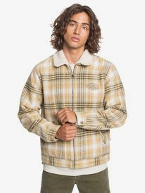 Shadow Foam - Sherpa Collar Zip-Up Overshirt for Men  EQYJK03592