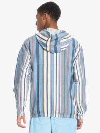 Neo Blue - Hooded Cotton Anorak for Men  EQYJK03722