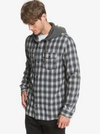 Snap Up - Hooded Long Sleeve Shirt for Men  EQYWT03952