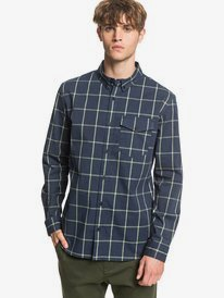 Misty Heights - Long Sleeve Checked Shirt for Men  EQYWT03965