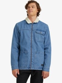 Klar - Denim Sherpa Jacket for Men  UQYJK03011