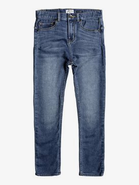 Low Bridge Buggy Blue - Skinny Fit Jeans for Boys 8-16  EQBDP03139