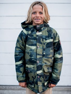 Mitake Smash - Water-Resistant Hooded Parka for Boys 8-16  EQBJK03163