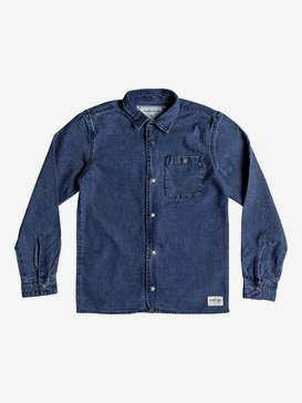 Yoko Meshi - Long Sleeve Denim Shirt for Boys 8-16  EQBWT03220