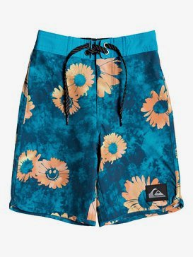 "Highline Sprayed Daisy 14"" - Board Shorts for Boys 2-7  EQKBS03268"