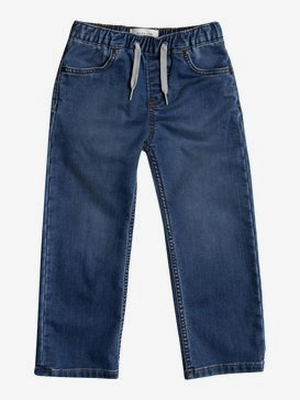 Elastic Aqua Cult Aged - Elasticated Jeans for Boys 2-7  EQKDP03076