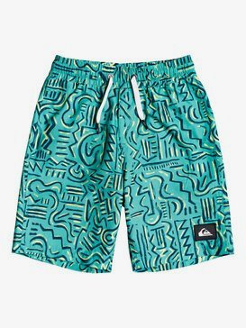 "Tropical Brush 14"" - Swim Shorts for Boys 2-7  EQKJV03119"