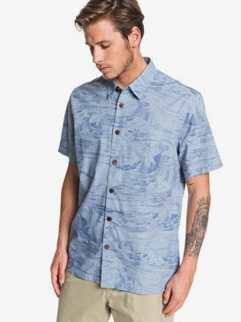 Waterman Les Waves - Short Sleeve Shirt for Men  EQMWT03259
