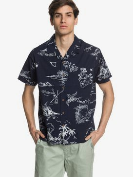 Waterman Map Dreams - Short Sleeve Shirt for Men  EQMWT03294