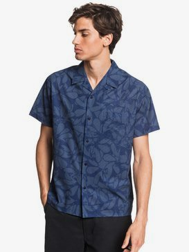 Waterman Floral Lake - UPF 30 Short Sleeve Shirt  EQMWT03310