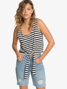 Quiksilver Womens - Cropped Boxy Vest Top  EQWKT03036