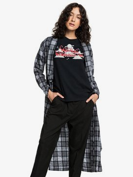 Quiksilver Womens - Long Sleeve Extra-Long Wrap Shirt  EQWWT03025
