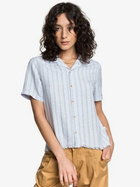 Quiksilver Womens - Short Sleeve Linen Camp Shirt  EQWWT03027