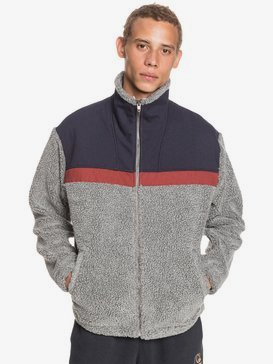 Bogong Gum - Pop Corn Sherpa Zip-Up Hoodie for Men  EQYFT04190