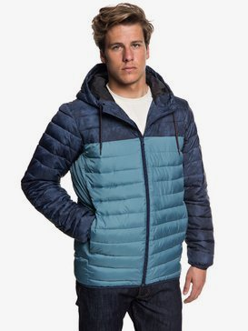 Scaly Block - Water-Resistant Puffer Jacket for Men  EQYJK03426