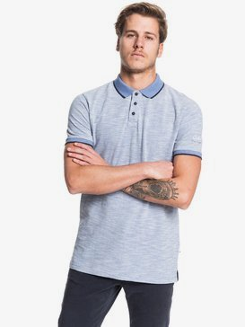 Burning Mountain - Short Sleeve Polo Shirt for Men  EQYKT03910