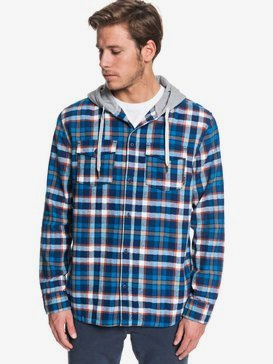 Snap Up - Hooded Long Sleeve Shirt for Men  EQYWT03848