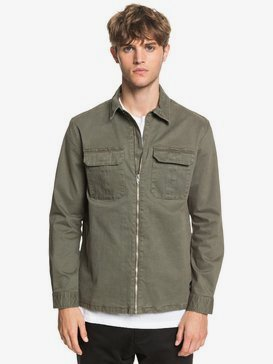 The Over Zip - Long Sleeve Zip-Up Overshirt  EQYWT03972