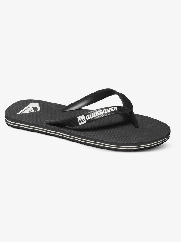 0 Moloka - Flip-Flops for Boys 8-16 Black AQBL100277 Quiksilver