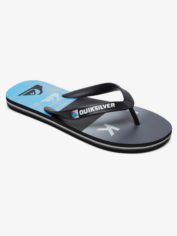 0 Molokai Wordblock - Flip-Flops for Boys Black AQBL100380 Quiksilver