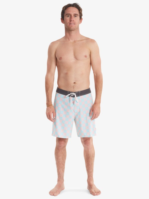 """Checker 18"""" - Recycled Board Shorts for Men  AQYBS03535"""