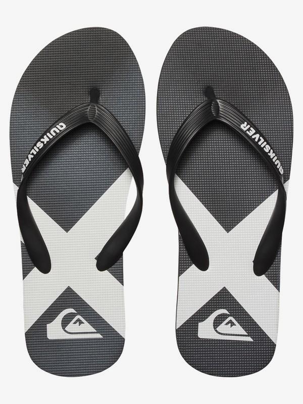 New Black Black White Quiksilver Molokai Bullseye Sandal