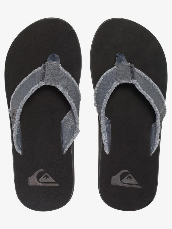 Grey Black Grey Quiksilver Monkey Abyss Flip Flops