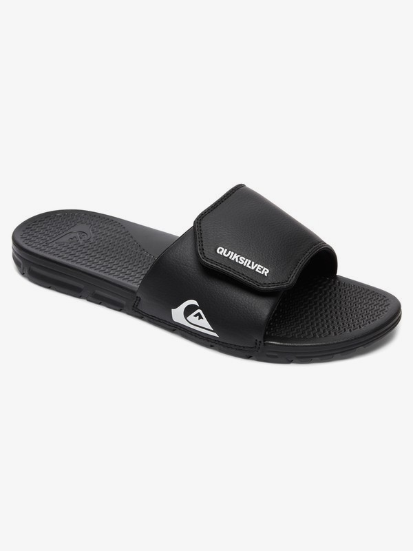0 Shoreline Adjust - Slider Sandals for Men Black AQYL100884 Quiksilver