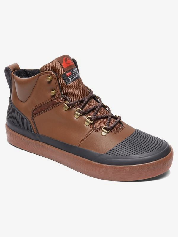 0 Grebe - Water-Resistant High-Top Shoes for Men Brown AQYS300076 Quiksilver