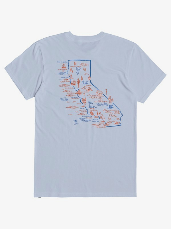 CA Surf Guide - T-Shirt for Men  AQYZT07143