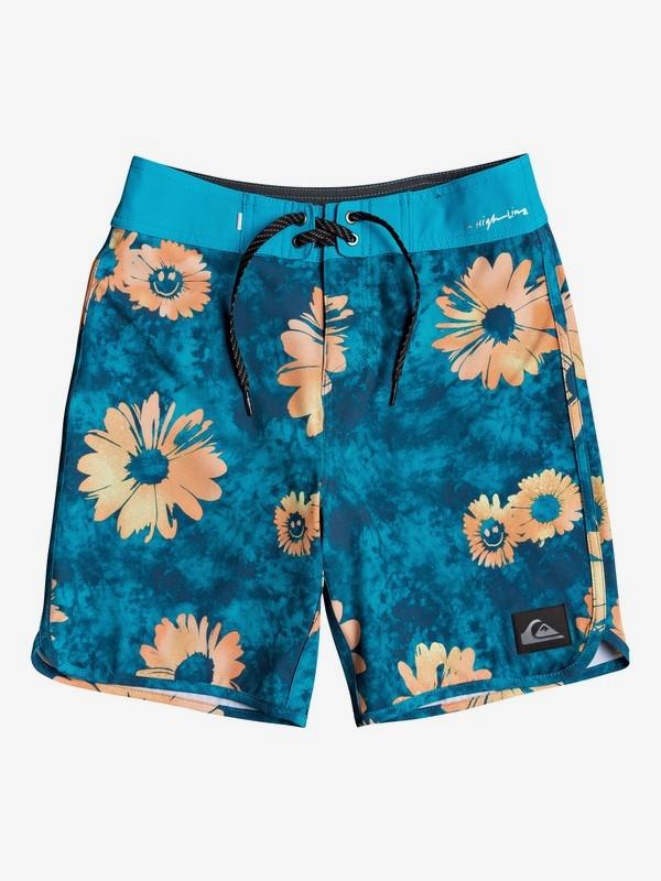 """Highline Sprayed Daisy 17"""" - Board Shorts for Boys 8-16  EQBBS03448"""