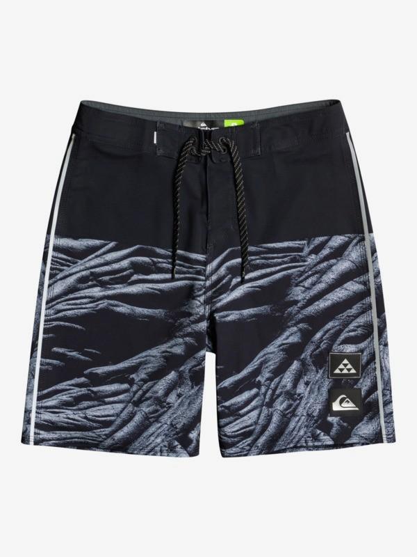 "Surfsilk Black Lava 17"" - Recycled Board Shorts for Boys 8-16  EQBBS03579"