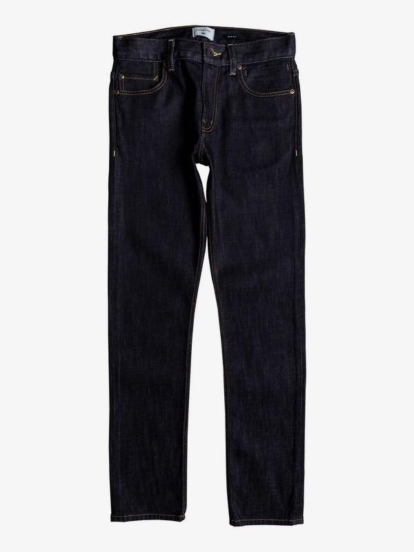 0 Distorsion Rinse - Slim Fit Jeans for Boys 8-16 Blue EQBDP03151 Quiksilver
