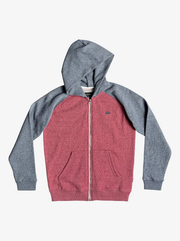 0 Everyday - Zip-Up Hoodie Red EQBFT03472 Quiksilver