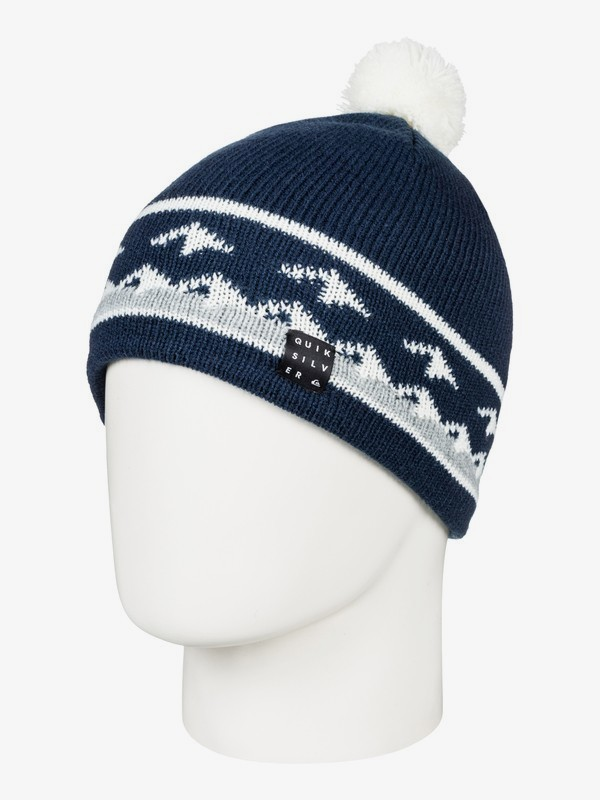 0 Barrow - Beanie for Boys 8-16 Blue EQBHA03033 Quiksilver
